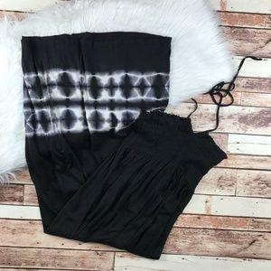 C & C california black tie dye maxi dress